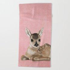 Small fawn Beach Towel