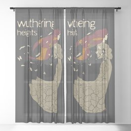 BOOKS Collection Wuthering Heights Sheer Curtain