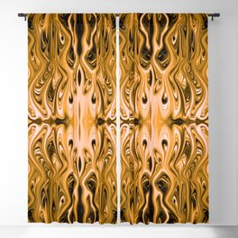 Antique Gold Squid by Chris Sparks Blackout Curtain