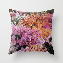 Fall Flowers Throw Pillow