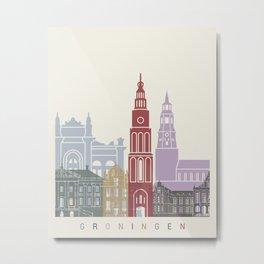 Groningen skyline poster Metal Print