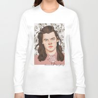 coconutwishes Long Sleeve T-shirts featuring H Pink by Coconut Wishes