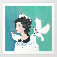 Feathered Friends. Art Print