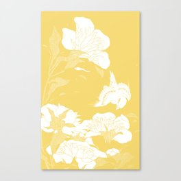 japanese flowers. Yellow Canvas Print