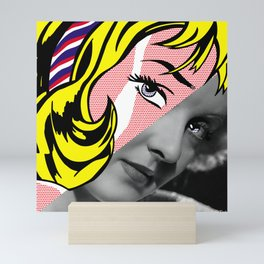 Roy Lichtenstein's Girl with Hair Ribbon & Bette Davis Mini Art Print