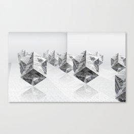 News Cubes 3 Canvas Print