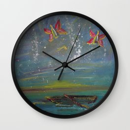 Fly Bottles, I'm Sailing Wall Clock