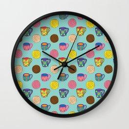 Café y Conchas Wall Clock