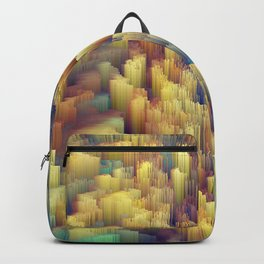 Glitch art Forest #glitch #abstraction Backpack