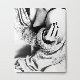 Fashion, Woman, Model, Fashion art, Photo, Minimal Metal Print