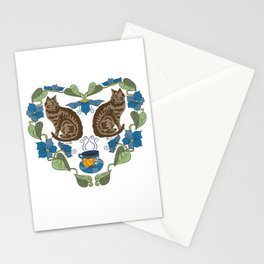 Coffee and Cats Stationery Cards