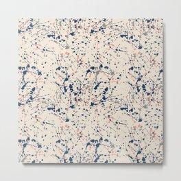 Cream Splatter Metal Print