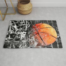 Basketball art swoosh 103 Rug