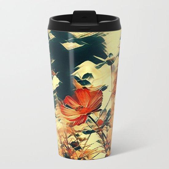 Cosmos in Abstract Metal Travel Mug
