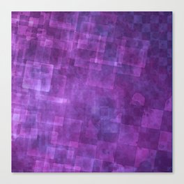 Abstract Purple Squares Digital Painting Canvas Print