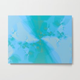 Shattered in Light Blue Metal Print