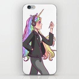 Sage the cool unicorn girl iPhone Skin