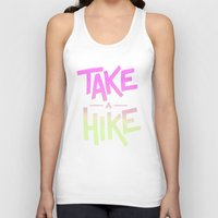 backpack Tank Tops featuring Take A Hike by Zeke Tucker