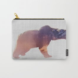 Double Exposure bear Carry-All Pouch