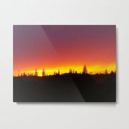 Striking Sunset Metal Print