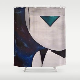 Brain the size of a planet Shower Curtain