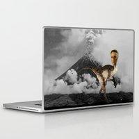 christopher walken Laptop & iPad Skins featuring ChristopheRAPTOR Walken - Christopher Walken Velociraptor by Kalynn Burke
