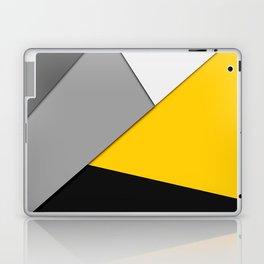 Simple Modern Gray Yellow and Black Geometric Laptop & iPad Skin