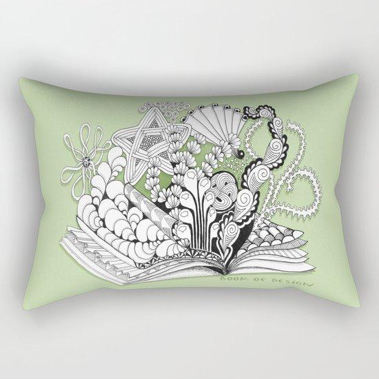 Book of Design - Zentangle Illustration for Children Rectangular Pillow