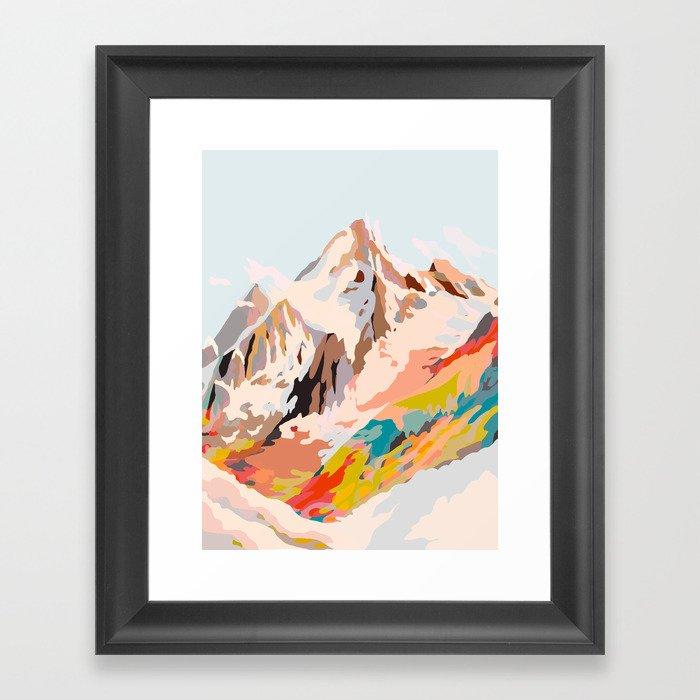 glass mountains Gerahmter Kunstdruck