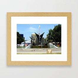 Victoria Square Fountain in Adelaide's CBD Framed Art Print