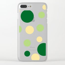 Green Pop Clear iPhone Case