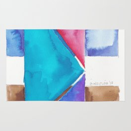 180818 Geometrical Watercolour 8| Colorful Abstract | Modern Watercolor Art Rug