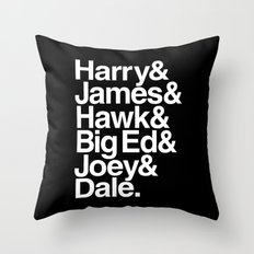 The Bookhouse Boys (Black Lodge) Throw Pillow