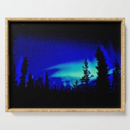 Aurora Borealis Forest Vibrant Serving Tray