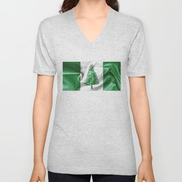 Norfolk Island Flag Unisex V-Neck
