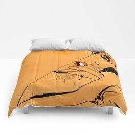 Girl in bed 1 Comforters