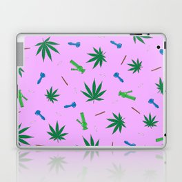 Weed Leaf, Bongs, Pipes, Joint, Blunts Pattern Laptop & iPad Skin