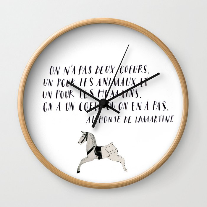 On n'a pas deux coeurs Wall Clock