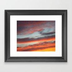 Berkshire Sunset I Framed Art Print