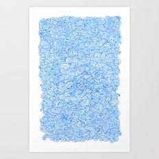 Water Wind Doodle Art Print