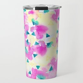 Pink and Blue Summer Breeze Travel Mug