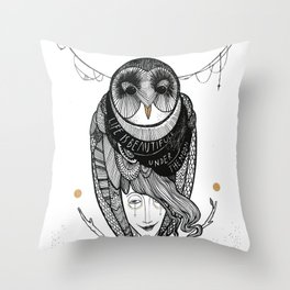 bird women Throw Pillow