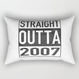 Straight Outta 2007 Rectangular Pillow