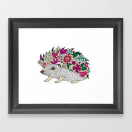 Woodland Hedgehog Illustration Framed Art Print