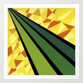 """Daffodil"" *The Nature Series* Montana Gold Spray Paint on Birch Panel 16″ x 16″ x 2"" Art Print"