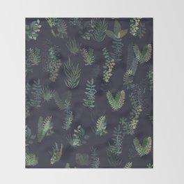 green garden at nigth mirror!!! Throw Blanket