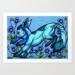Evolve the Rainbow - Glaceon Art Print