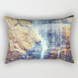 Giant Yosemite Waterfall Rectangular Pillow