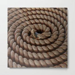 A Coil of Rope Metal Print