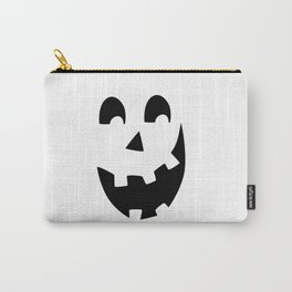 Crazy Jack O'Lantern Face Carry-All Pouch